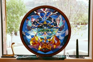 Circular Frame for Zenon Stain glass piece