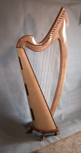 The Joy 38 Professional harp, back view