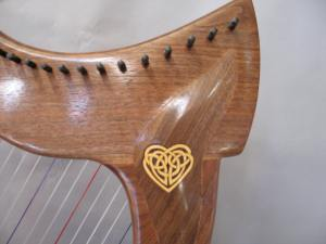 The inlay in the harp neck