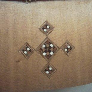 Ivory, ebony and Rosewood inlay