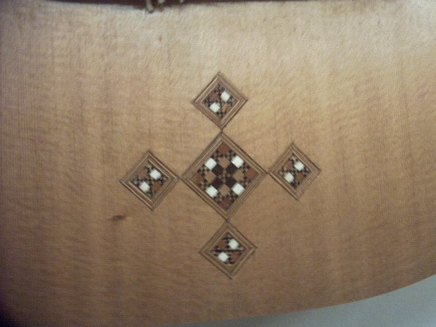 Ivory, ebony and Rosewood inlay