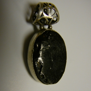 Noble Shungite in Oval Silver setting $45