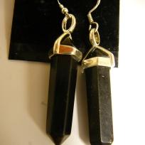 Double Terminated Shungite Earrings $50