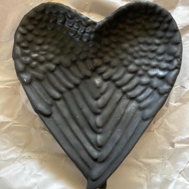 Angel Wing bowl Shungite powder in resin $40