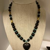 Custom Shungite & Turquoise necklace $150