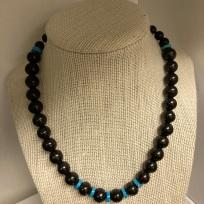 Custom Shungite & Turquoise necklace $100